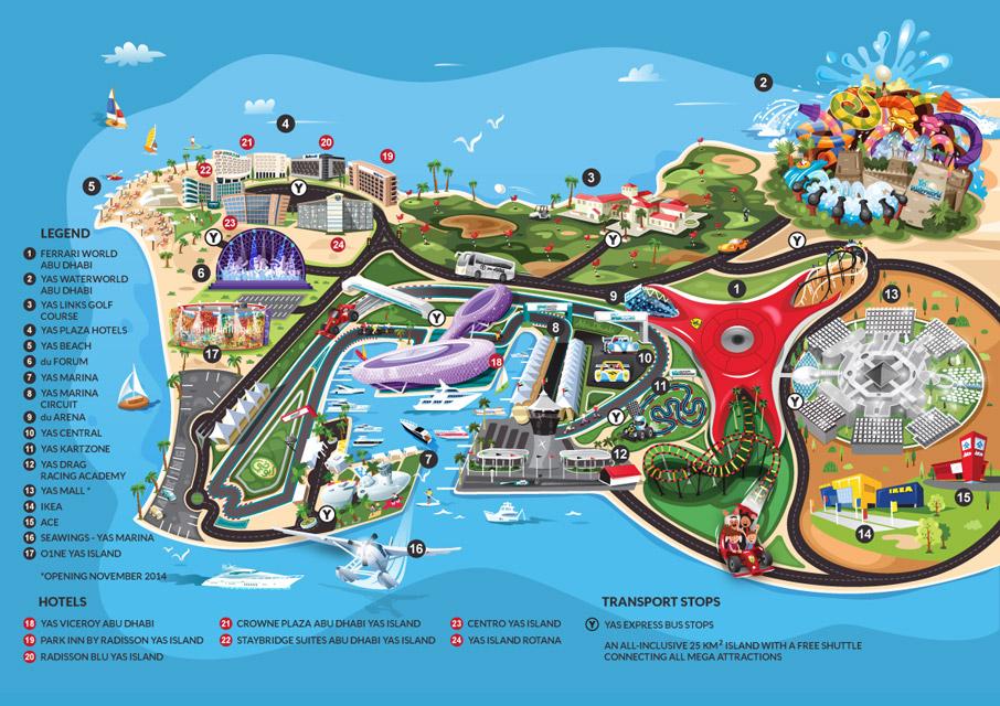 Uni Emirat Arab – Abu Dhabi – Yas Island